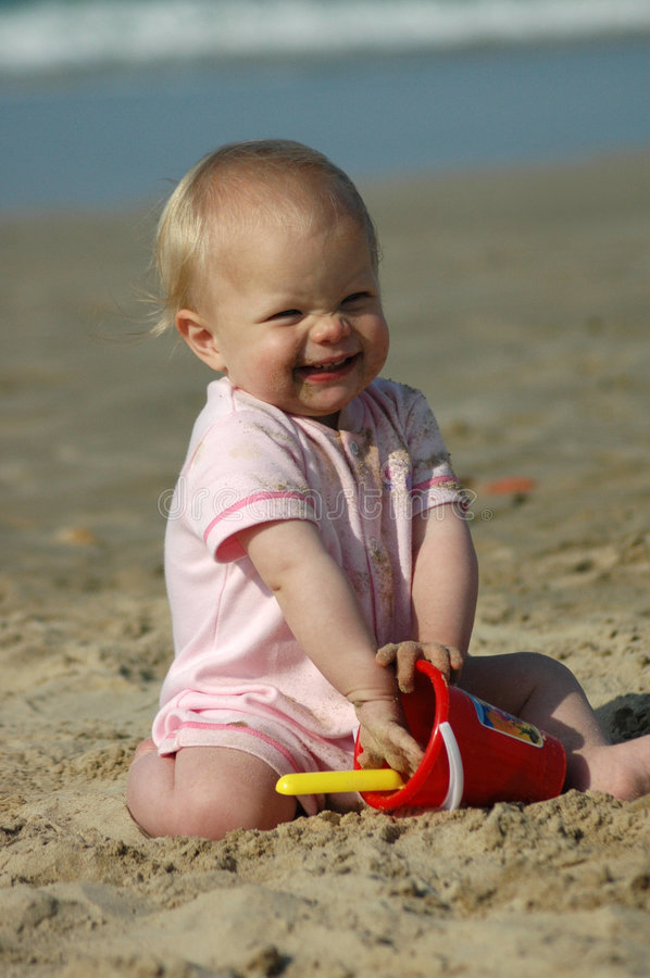 Baby Beach Play Stock Photo. Image Of Blond, Caucasian