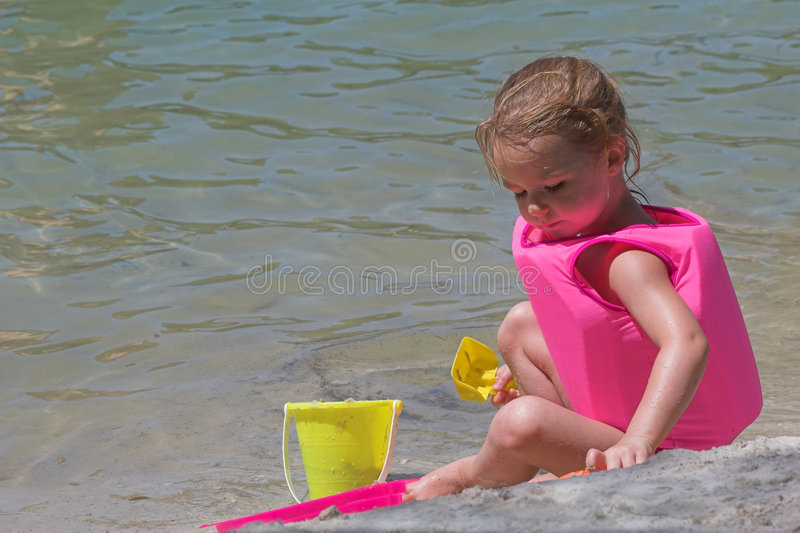 Baby on Beach Playing