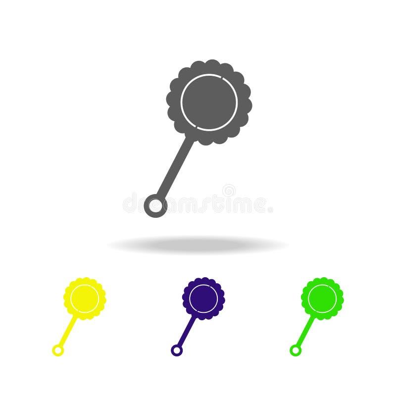 baby beanbag gekleurde pictogrammen Element van speelgoed Kan voor Web, embleem, mobiele toepassing, UI, UX worden gebruikt vector illustratie