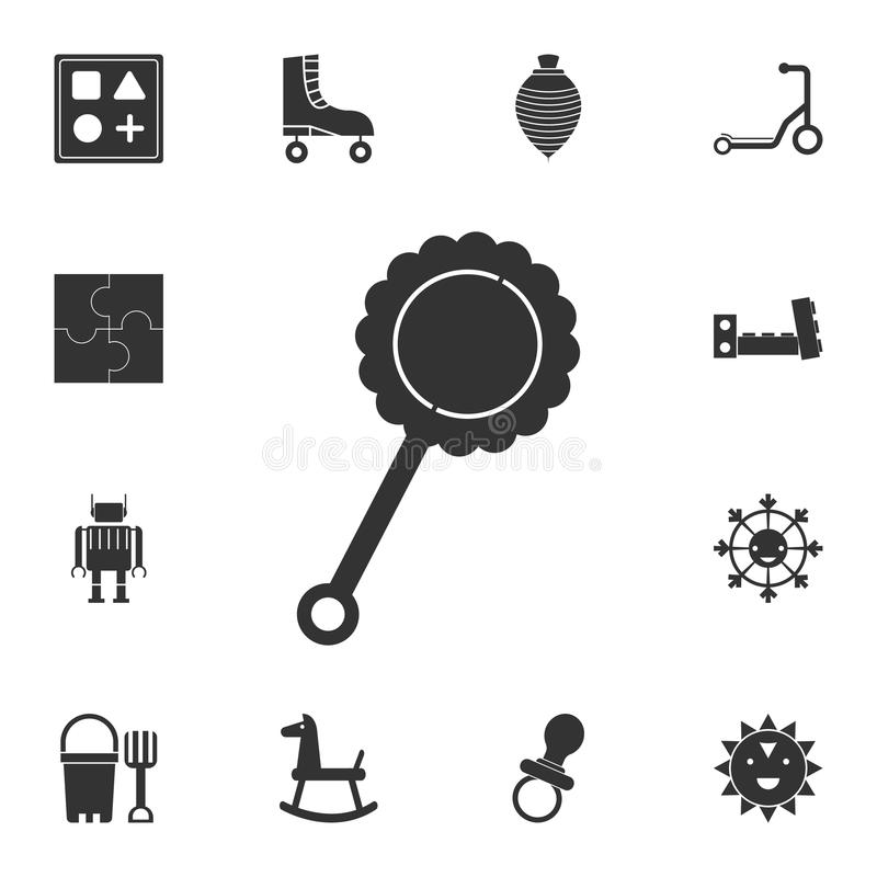 Baby beanbag pictogram Gedetailleerde reeks van speelgoedpictogram Premie grafisch ontwerp Één van de inzamelingspictogrammen voo stock illustratie