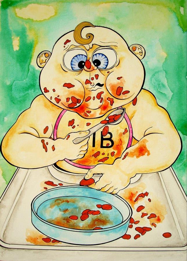 Baby Beans stock illustration