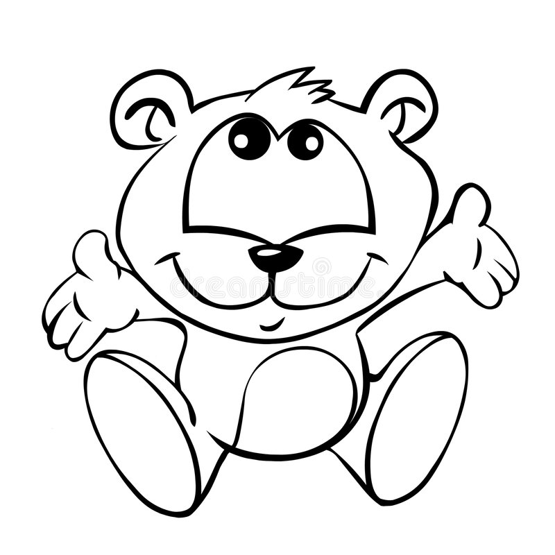 Baby bear. Is asking for a hug royalty free illustration