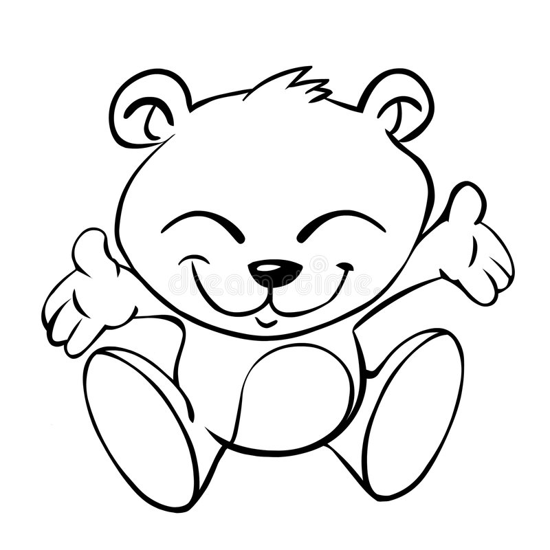 Baby bear. Is asking for a hug stock illustration