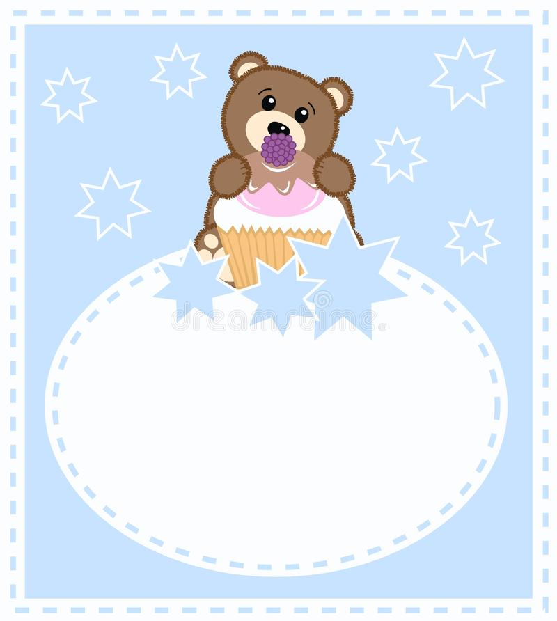 Baby bear card royalty free stock images