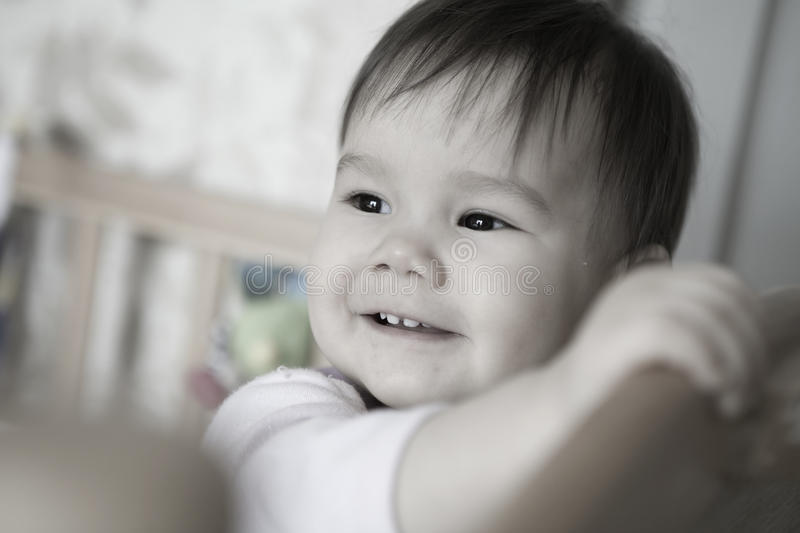 Download Baby in bed stock image. Image of childhood, ethnicity - 10562255
