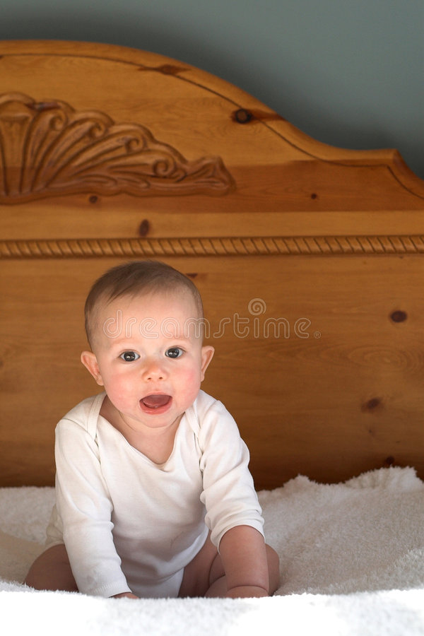 Download Baby on Bed stock image. Image of flawless, happiness - 1818557