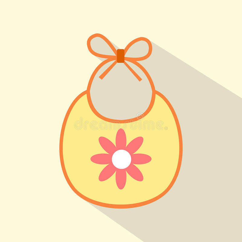 Baby bib flat icon. For web and mobile devices royalty free illustration