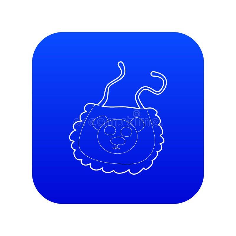 Baby bib icon blue vector stock illustration