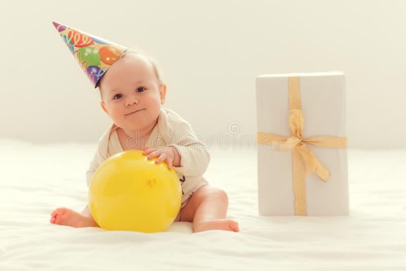 Baby birthday. Baby celebratng first year birthday stock image