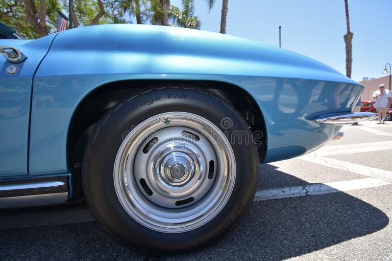 Baby-blaue Korvette 1965 Sting Ray Convertible, 1 stockfotografie