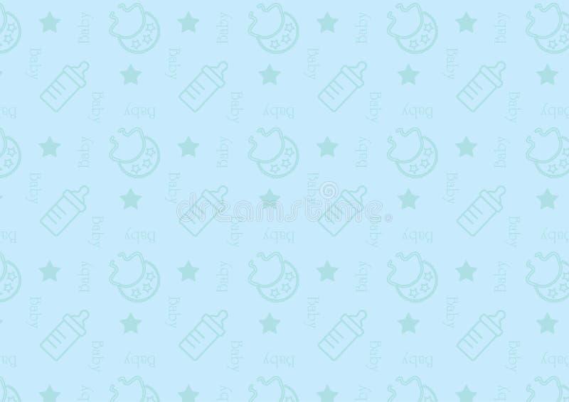 Baby blauw patroon royalty-vrije illustratie