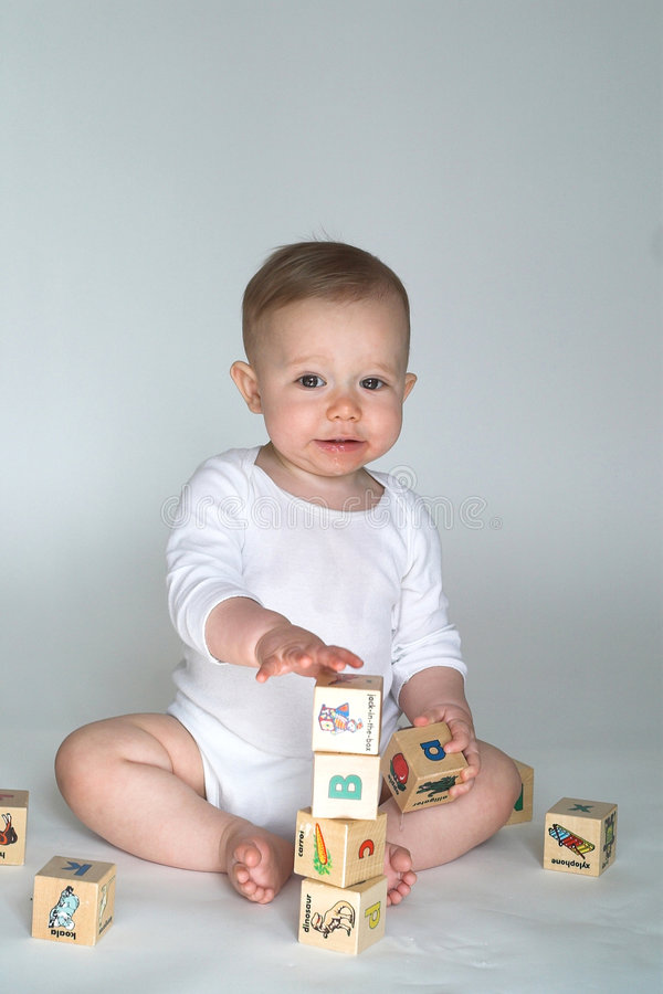 Download Baby Blocks stock image. Image of laughing, laugh, discovering - 2454965