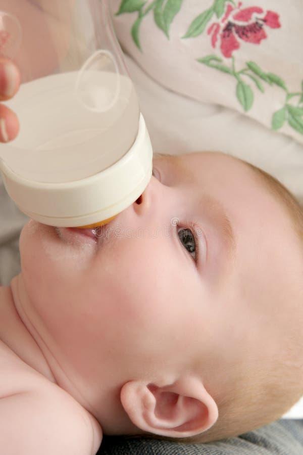 Download Baby Blond Little Girl Feeding Drinking Milk Stock Image - Image: 11784895