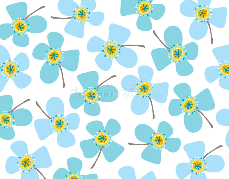 Baby blue daisies royalty free illustration