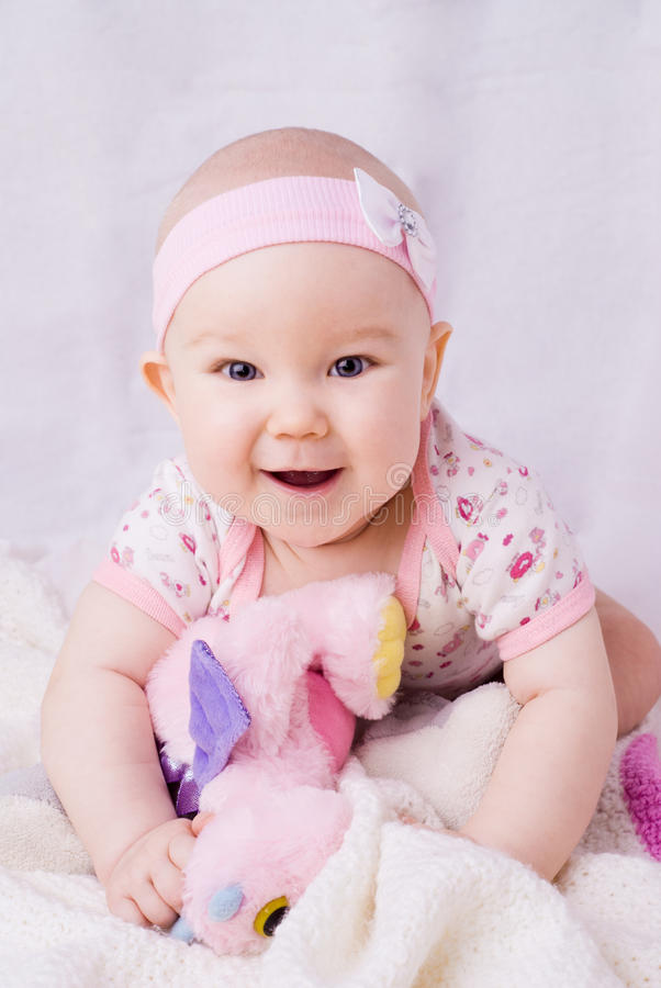 Download Baby With Blue Eyes Smiling Stock Photo - Image: 34257720
