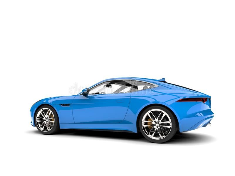Baby blue modern sports concept car - side angle shot vector illustration