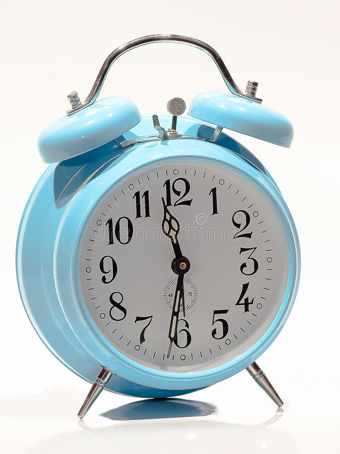 Download Baby Blue old clock stock image. Image of awake, night - 38662079