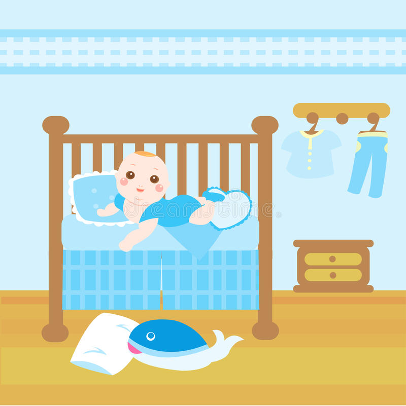 Baby blue room stock illustration