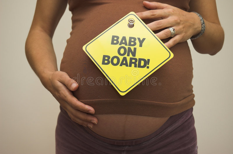 Download Baby on Board! stock photo. Image of figure, baby, expectant - 1421230