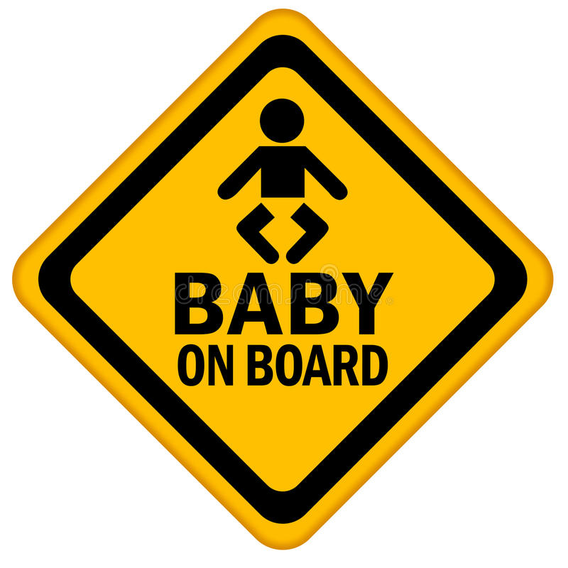 Download Baby on board stock illustration. Illustration of recommend - 15001602