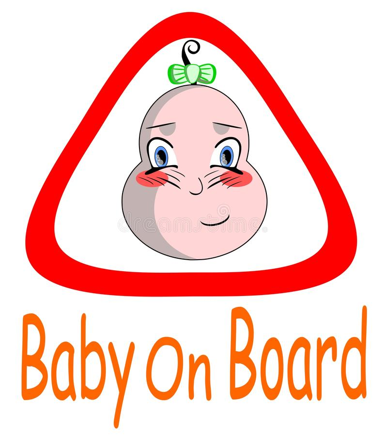 Download Baby on board stock vector. Image of baby, drive, illustration - 21424363
