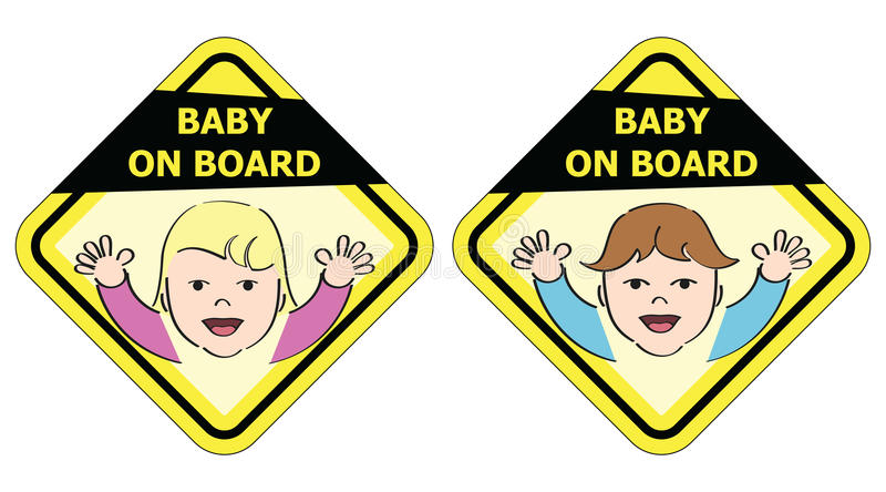Baby On Board - Message Sign Stock Images