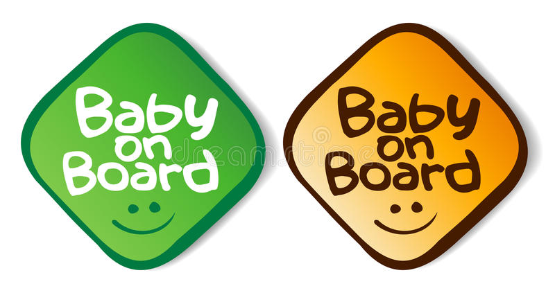 Download Baby On Board Stickers. Stock Photos - Image: 16768173