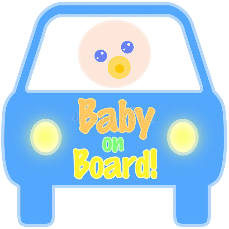 Baby on Board Tag vector illustration