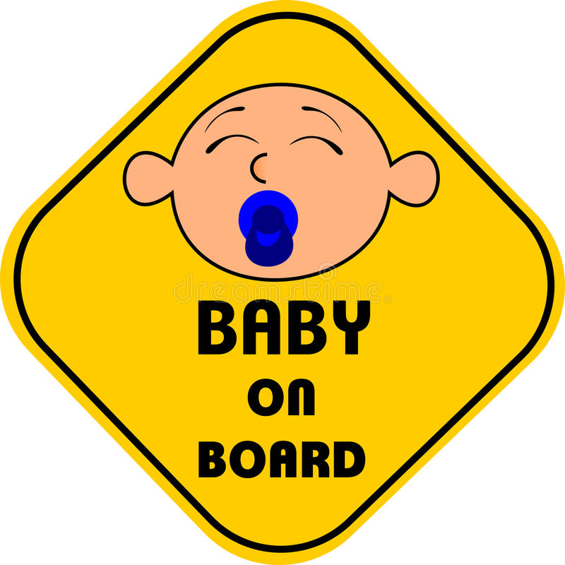 Baby on board. You can use this beautiful illustration in all your graphic projects stock illustration