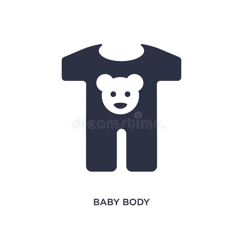 Baby body icon on white background. Simple element illustration from kids and baby concept. Baby body icon. Simple element illustration from kids and baby royalty free illustration