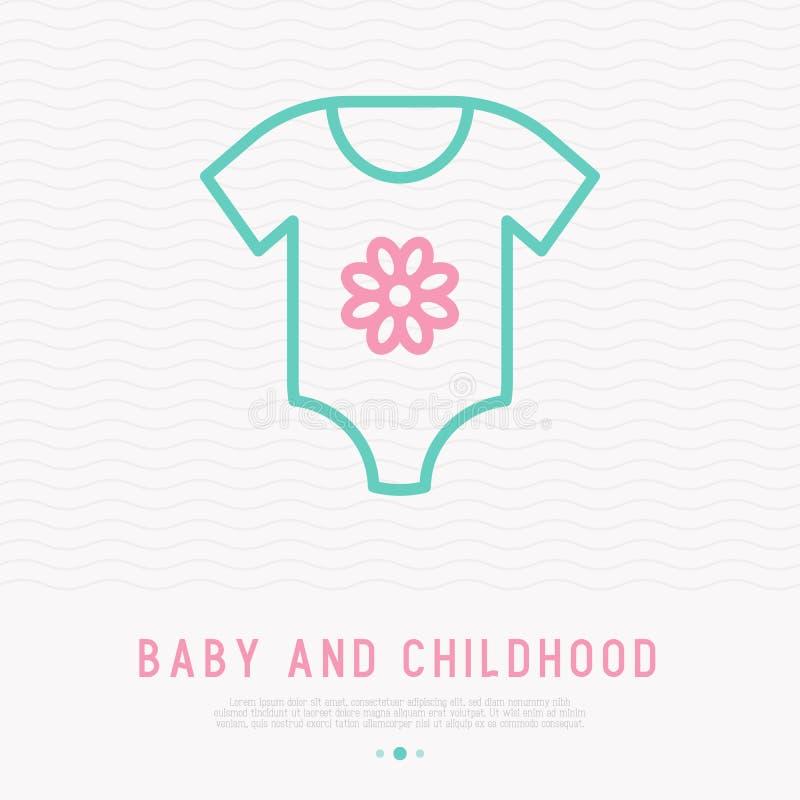 Baby body thin line icon. Modern vector illustration of kid apparel vector illustration