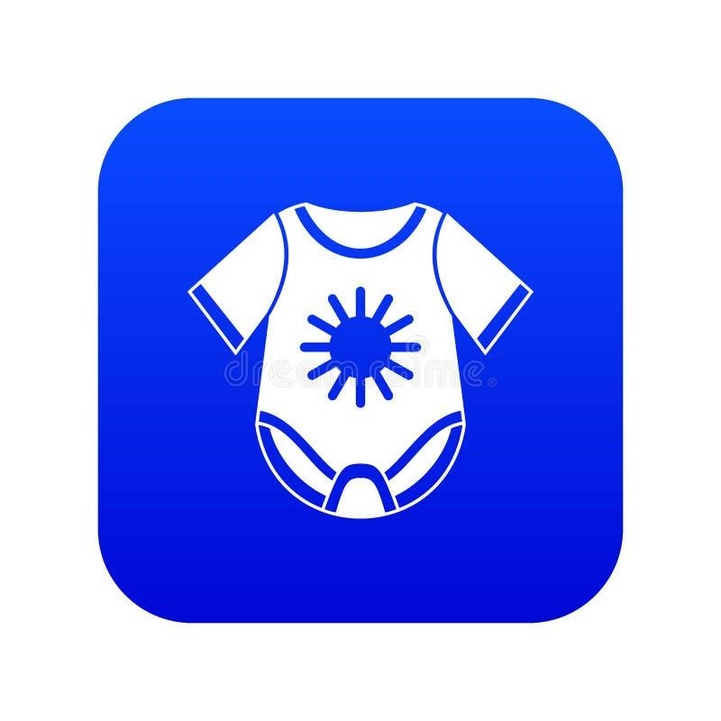 Baby bodysuit icon digital blue. For any design isolated on white vector illustration vector illustration