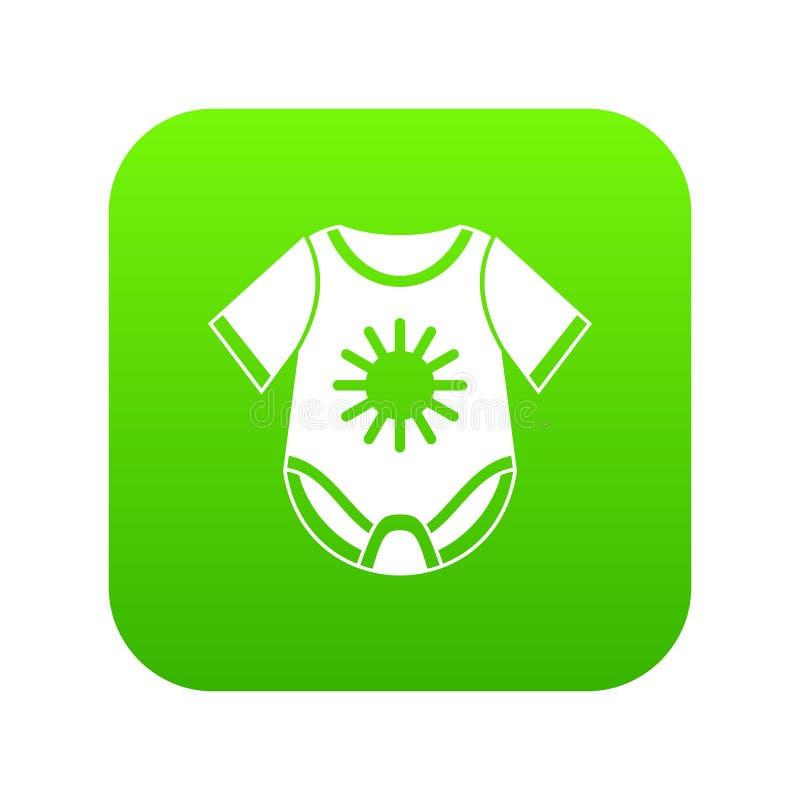 Baby bodysuit icon digital green royalty free illustration