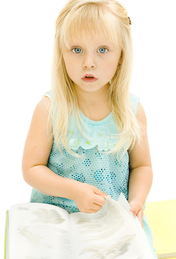 Download Baby with book stock photo. Image of charming, babe, sweet - 15792126