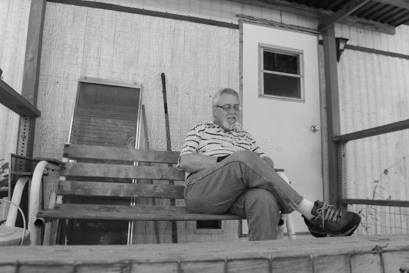 Baby boomer happy retired retro stock photo