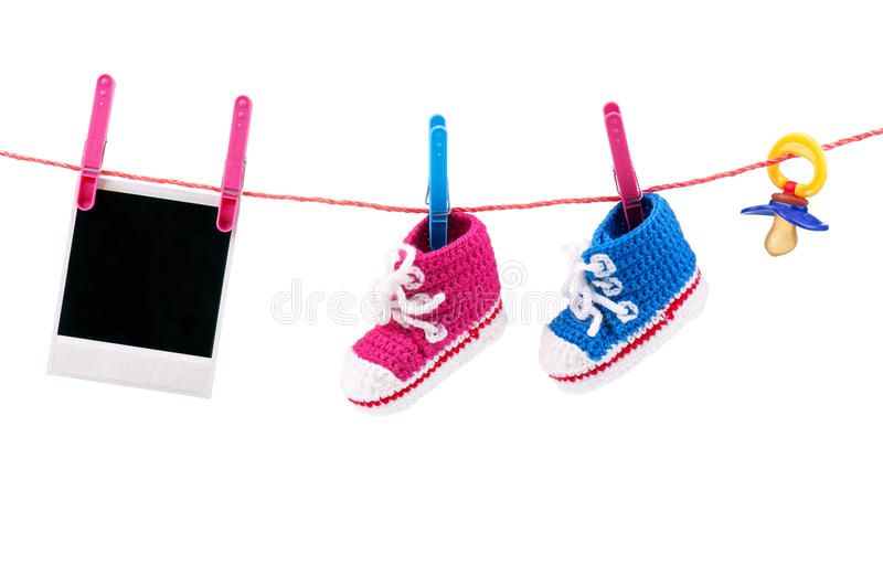 Download Baby bootees stock photo. Image of horizontal, cute, crochet - 21626336