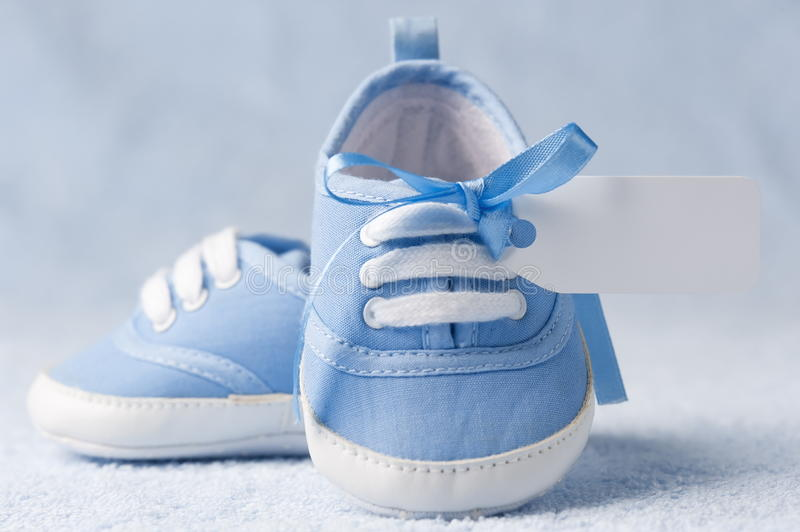Baby booties royalty free stock photo