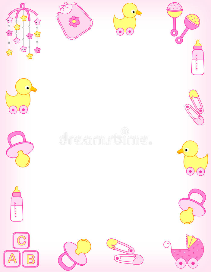 Download Baby border stock illustration. Illustration of daughter - 14556642