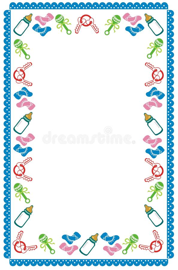 Boy Toys Border : Baby border stock vector illustration of invitation