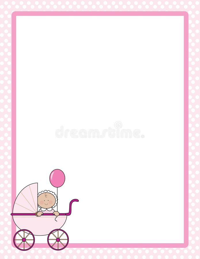 Download Baby Border Girl stock vector. Image of wheels, balloon - 4763059