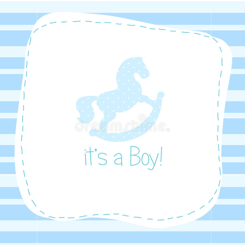 Baby born congratulation card stock illustration