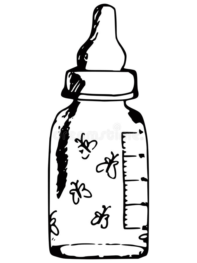 Baby bottle royalty free illustration
