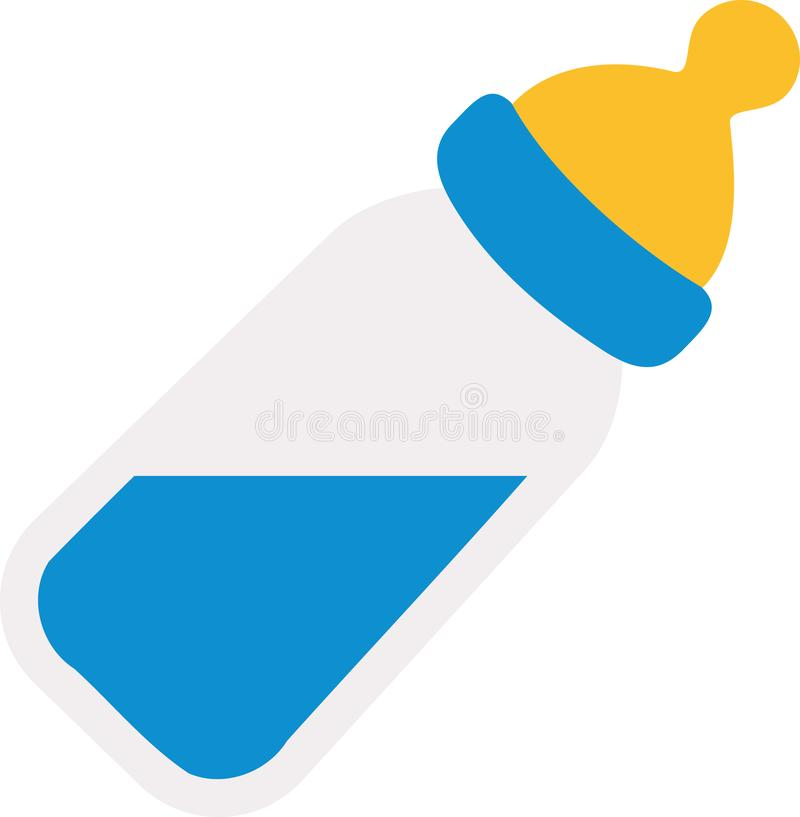 Baby bottle with milk. Vector royalty free illustration