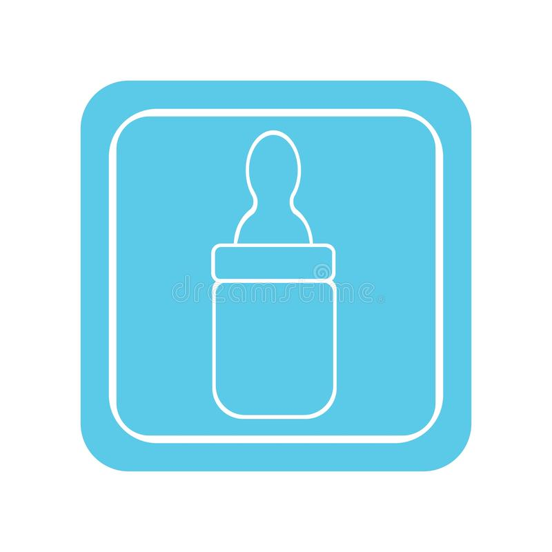 baby bottle vector illustration