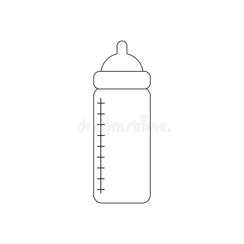 Baby bottle with nutrition. On the white background. Vector illustration vector illustration
