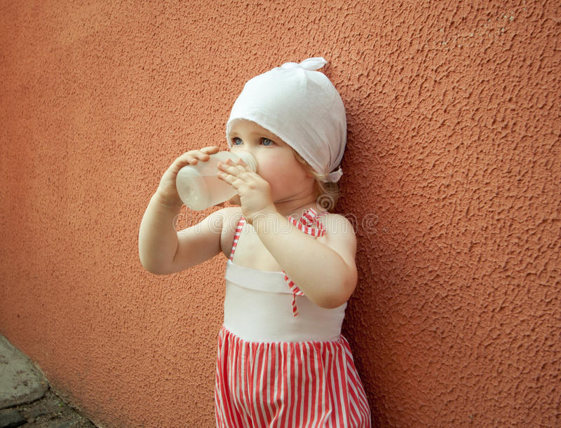 Download Baby With A Bottle Of Water Royalty Free Stock Image - Image: 21891546