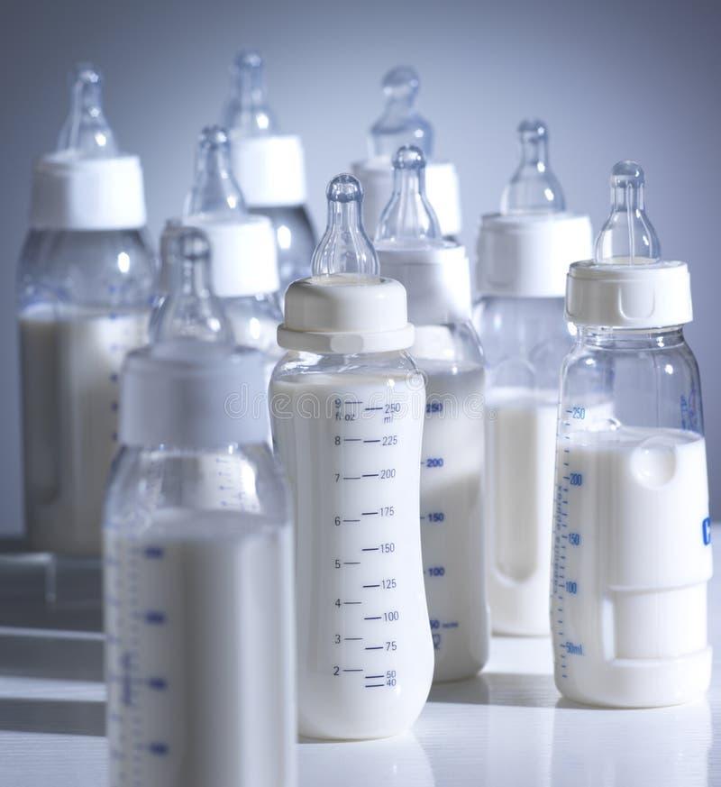 Baby bottles stock photos