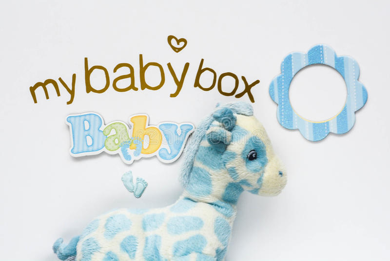 Baby Box cover. My Baby Box cover with toy stock images