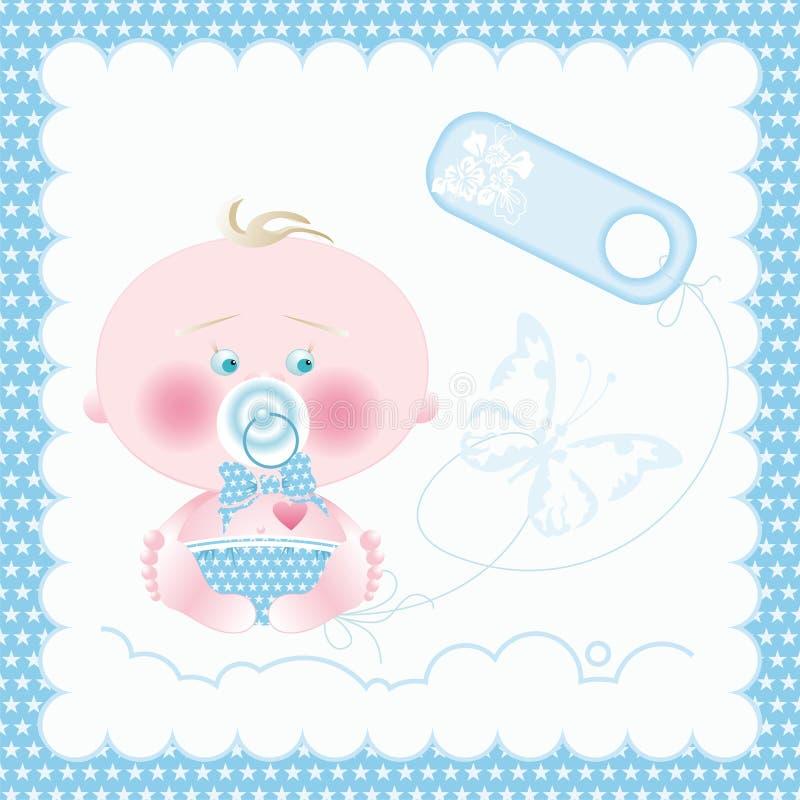 Download Baby boy stock vector. Image of label, illustration, flower - 10170314