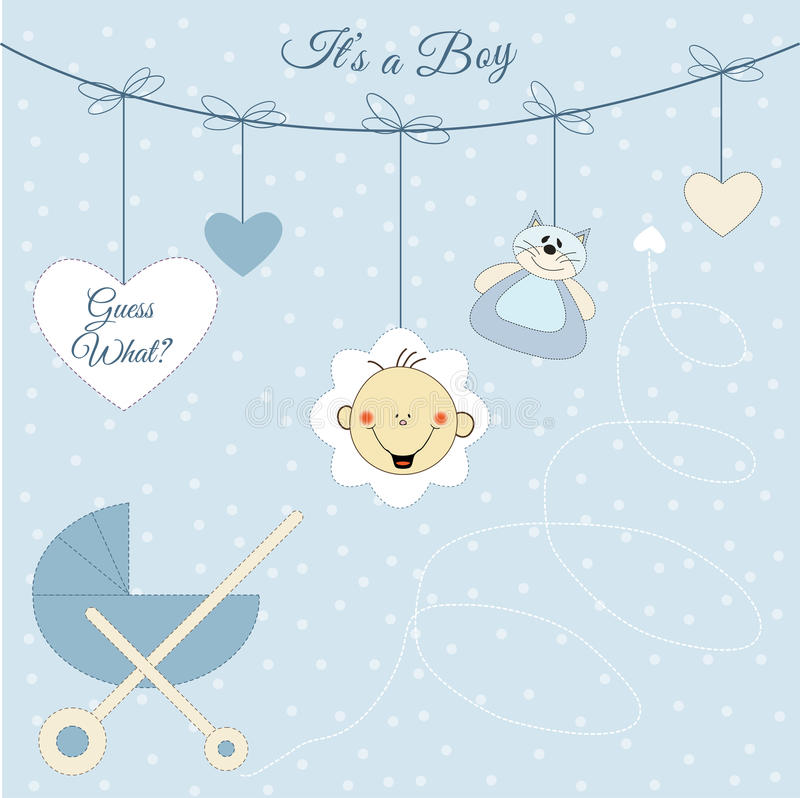 Free Baby Boy Announcement Royalty Free Stock Photo - 14863865
